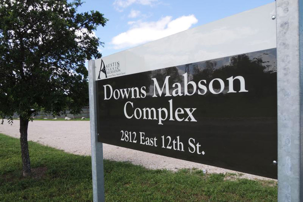 Downs-Mabson Complex entry sign