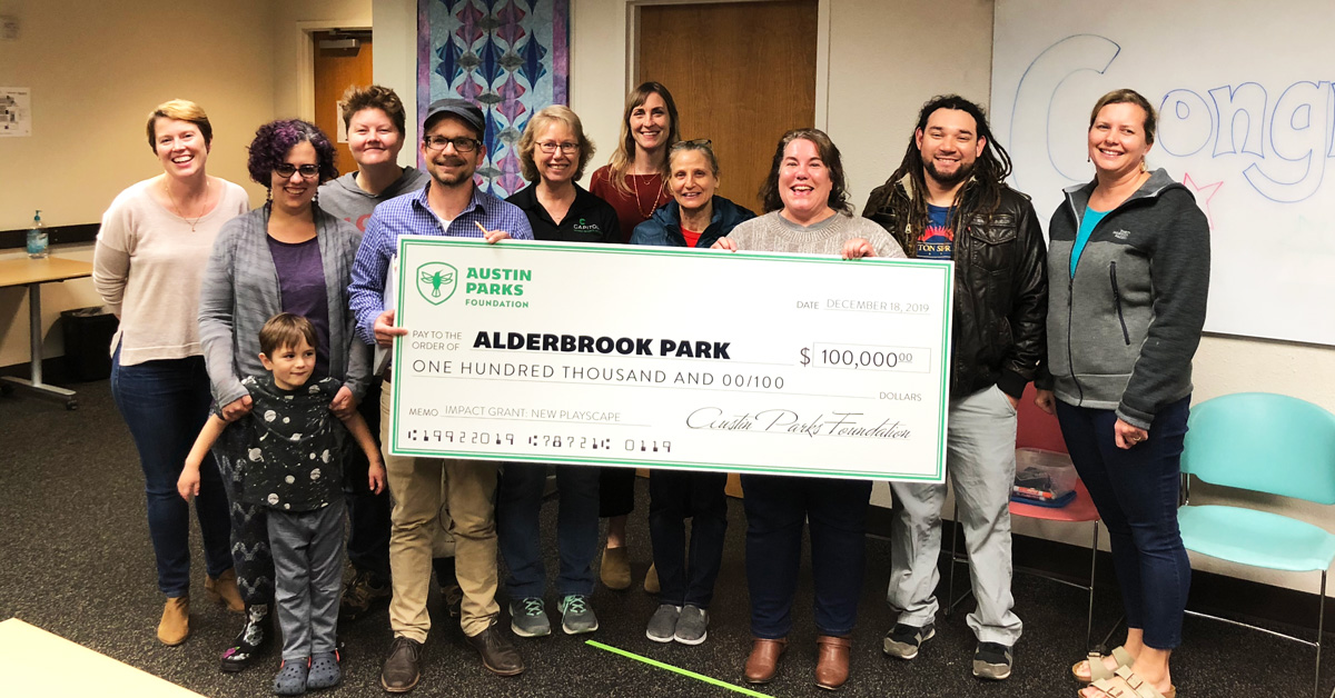 """Featured image for """"Austin Parks Foundation Awards $100,000 Impact Grant to Alderbrook Park"""""""
