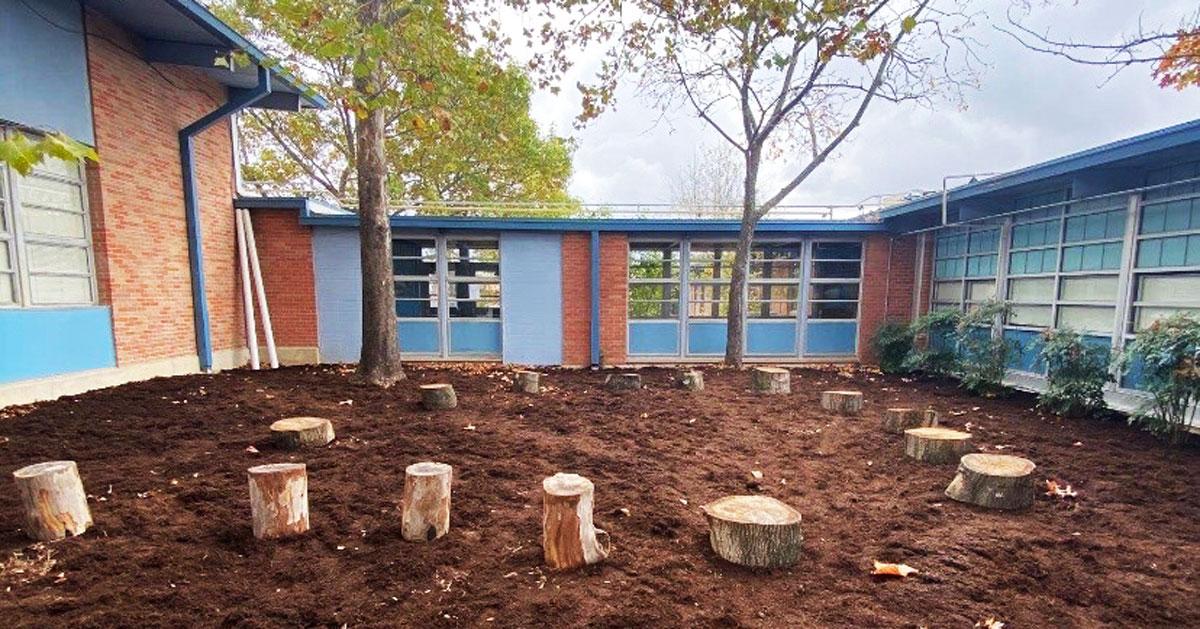 outdoor classroom at andrews elementary school