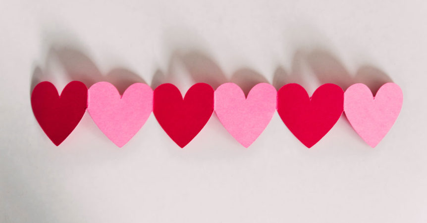 hearts for valentines craft