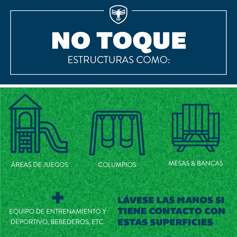 dont touch social distancing graphic spanish